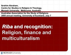 religion finance multiculturalism